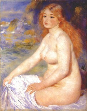 Blonde bather