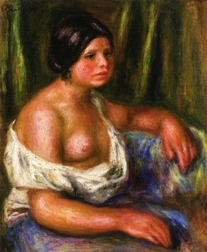 Pierre Auguste Renoir - Woman in Blue 2