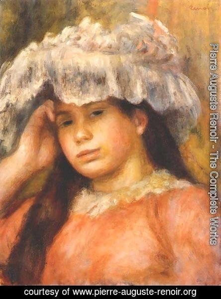 Pierre Auguste Renoir - Young Woman Wearing a Hat 2