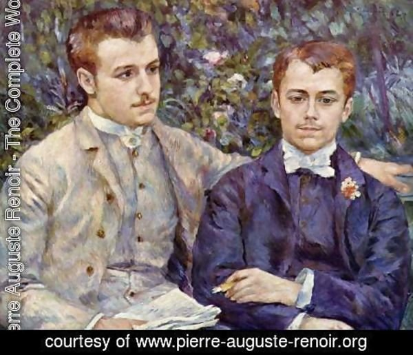 Pierre Auguste Renoir - Portrait of Charles and Georges Durand Ruel