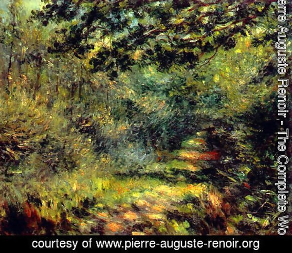 Pierre Auguste Renoir - Forest Path