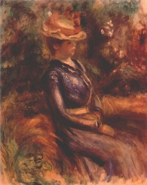 Pierre Auguste Renoir - Girl wearing a straw hat