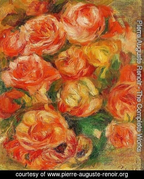 Pierre Auguste Renoir - A Bowlful Of Roses