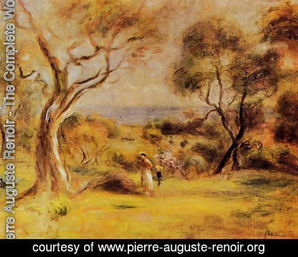 Pierre Auguste Renoir - A Walk By The Sea