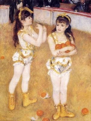 Pierre Auguste Renoir - Acrobats At The Cirque Fernando Aka Francisca And Angelina Wartenberg