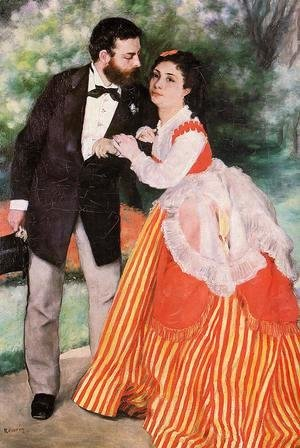 Pierre Auguste Renoir - Alfred Sisley With His Wife