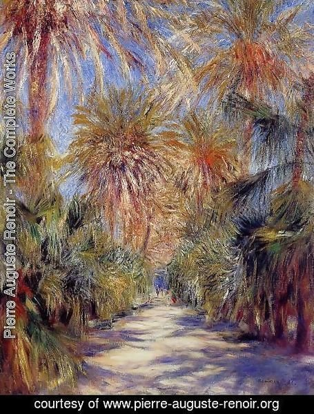 Pierre Auguste Renoir - Algiers  The Garden Of Essai