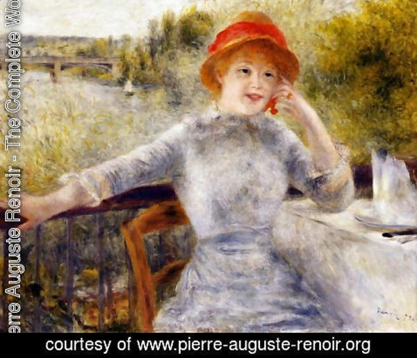 Pierre Auguste Renoir - Alphonsine Fournaise On The Isle Of Chatou