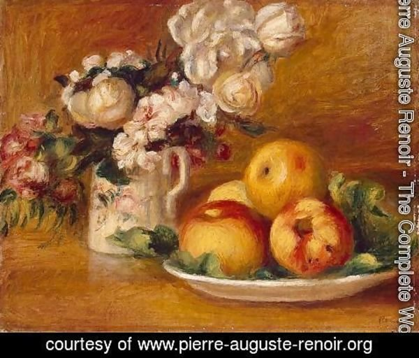 Pierre Auguste Renoir - Apples And Flowers