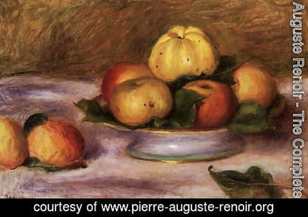 Pierre Auguste Renoir - Apples On A Plate