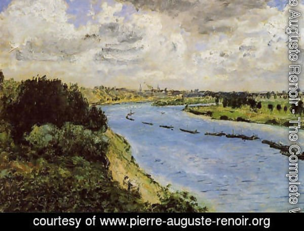Pierre Auguste Renoir - Barges On The Seine