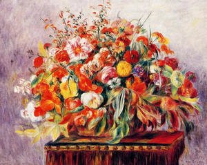 Pierre Auguste Renoir - Basket Of Flowers
