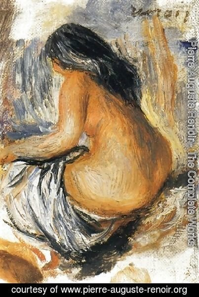 Pierre Auguste Renoir - Bather From The Back