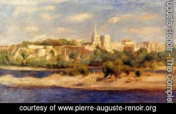 Pierre Auguste Renoir - Bathers On The Banks Of The Thone In Avignon