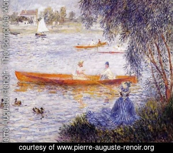 Pierre Auguste Renoir - Boating At Argenteuil