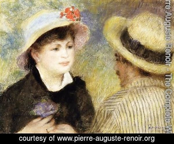 Pierre Auguste Renoir - Boating Couple Aka Aline Charigot And Renoir