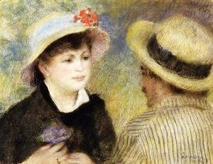 Boating Couple Aka Aline Charigot And Renoir