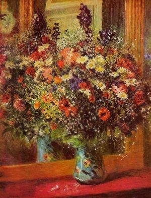 Pierre Auguste Renoir - Bouquet In Front Of A Mirror