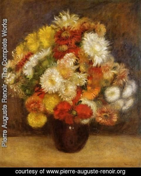 Pierre Auguste Renoir - Bouquet Of Chrysanthemums