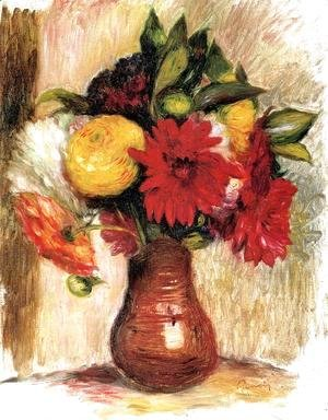 Pierre Auguste Renoir - Bouquet Of Flowers In An Earthenware Pitcher