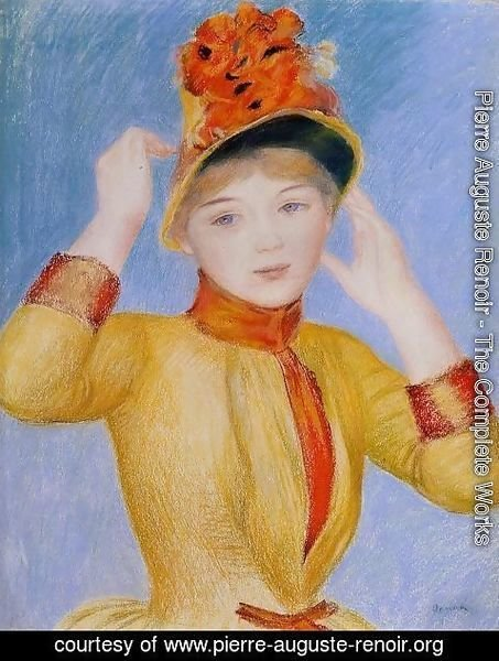 Pierre Auguste Renoir - Bust Of A Woman Aka Yellow Dress