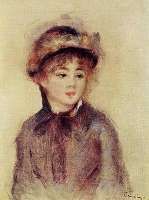 Pierre Auguste Renoir - Bust Of A Woman Wearing A Hat