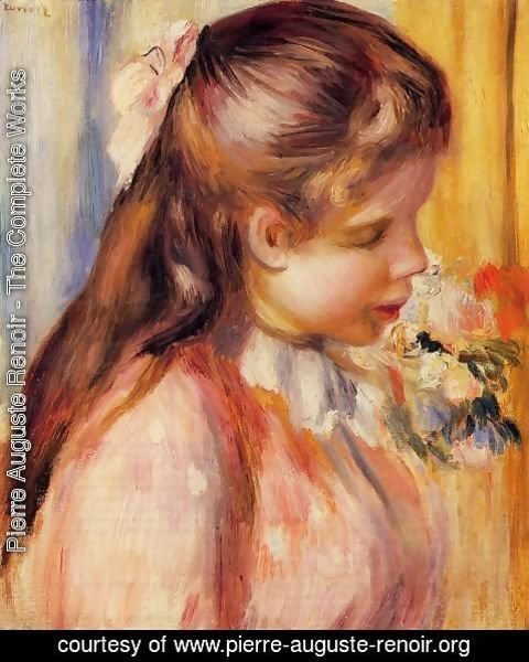 Pierre Auguste Renoir - Bust Of A Young Girl