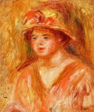 Pierre Auguste Renoir - Bust Of A Young Girl In A Straw Hat
