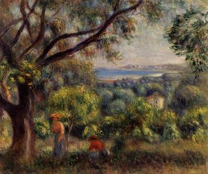 Pierre Auguste Renoir - Cagnes Landscape Aka View Of Collettes