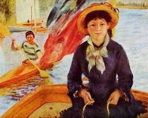 Pierre Auguste Renoir - Canoeing Aka Young Girl In A Boat