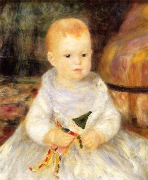 Pierre Auguste Renoir - Child With Punch Doll Aka Pierre De La Pommeraye
