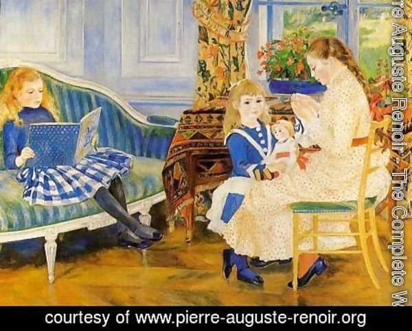 Pierre Auguste Renoir - Childrens Afternoon At Wargemont Aka Marguerite  Lucie And Marthe Barard