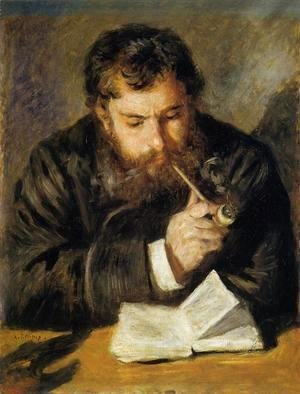 Pierre Auguste Renoir - Claude Monet Aka The Reader