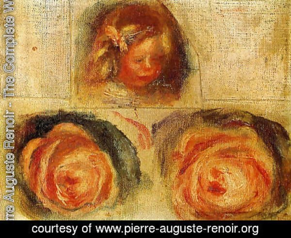 Pierre Auguste Renoir - Coco And Roses (study)