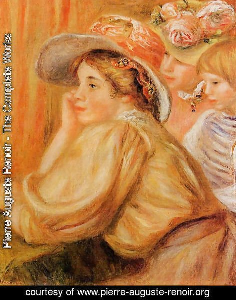 Pierre Auguste Renoir - Coco And Two Servants
