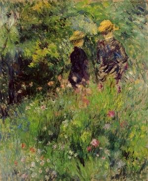 Pierre Auguste Renoir - Conversation In A Rose Garden