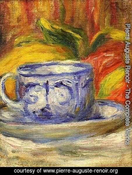 Pierre Auguste Renoir - Cup And Fruit