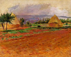 Pierre Auguste Renoir - Field And Haystacks
