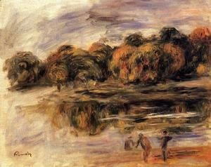 Pierre Auguste Renoir - Fishermen By A Lake