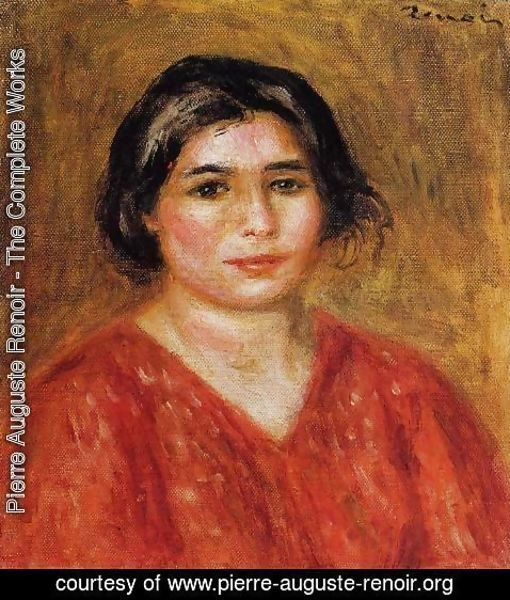 Pierre Auguste Renoir - Gabrielle In A Red Blouse