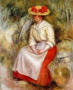 Pierre Auguste Renoir - Gabrielle In A Red Blouse2