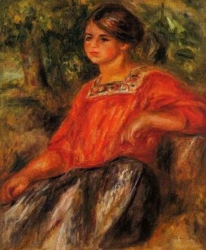 Pierre Auguste Renoir - Gabrielle In The Garden At Cagnes