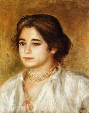 Pierre Auguste Renoir - Gabrielle Wearing A Necklace