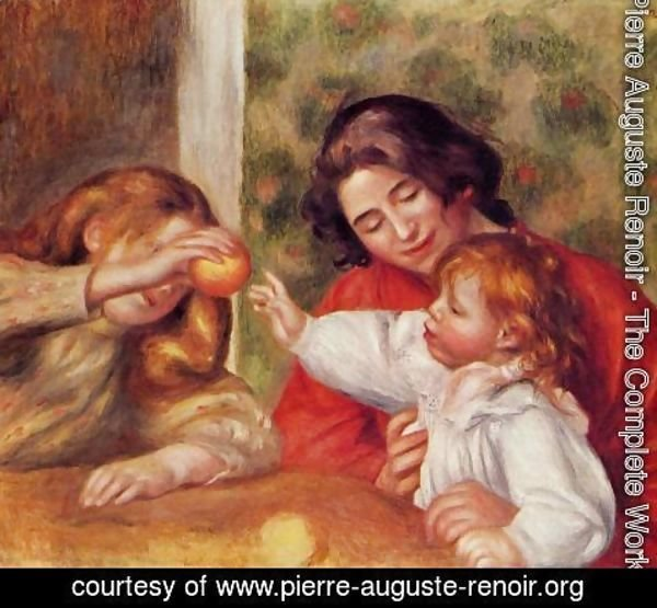 Pierre Auguste Renoir - Gabrielle  Jean And A Little Girl