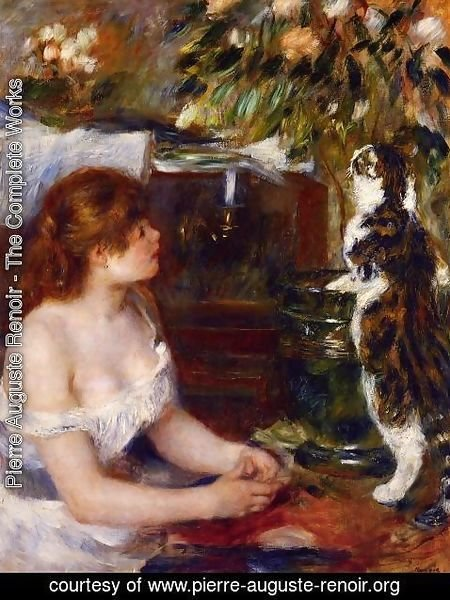 Pierre Auguste Renoir - Girl And Cat