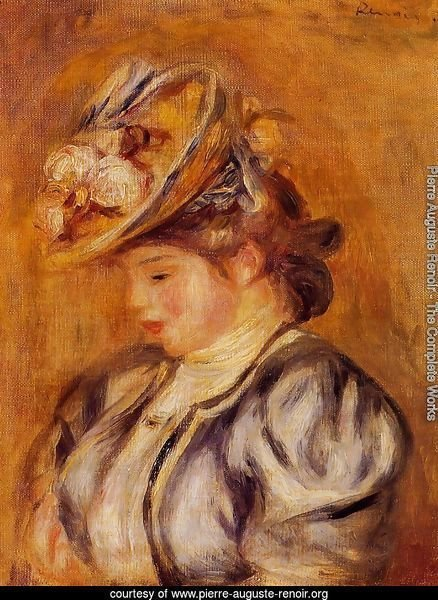 Girl In A Flowery Hat