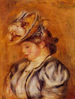 Pierre Auguste Renoir - Girl In A Flowery Hat
