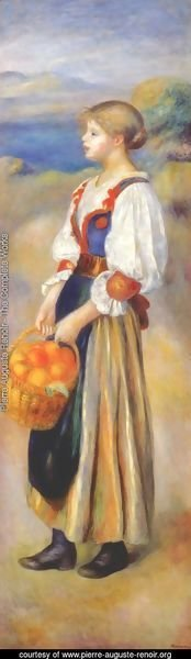 Pierre Auguste Renoir - Girl With A Basket Of Oranges