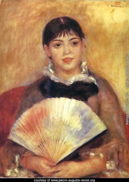 Girl With A Fan Aka Alphonsine Fournaise