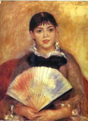 Pierre Auguste Renoir - Girl With A Fan Aka Alphonsine Fournaise